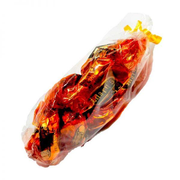 Naranja cubierta de chocolate artesanal