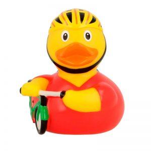 Comprar patito de goma ciclista