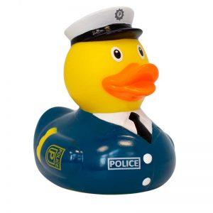 Patito de goma policia