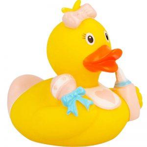 Pato de goma bebé chica