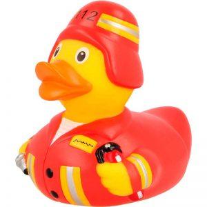 Pato de goma bombero