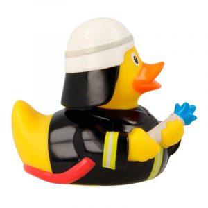 Pato de goma bombero negro