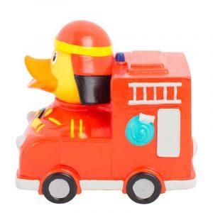 Pato de goma camión de bomberos